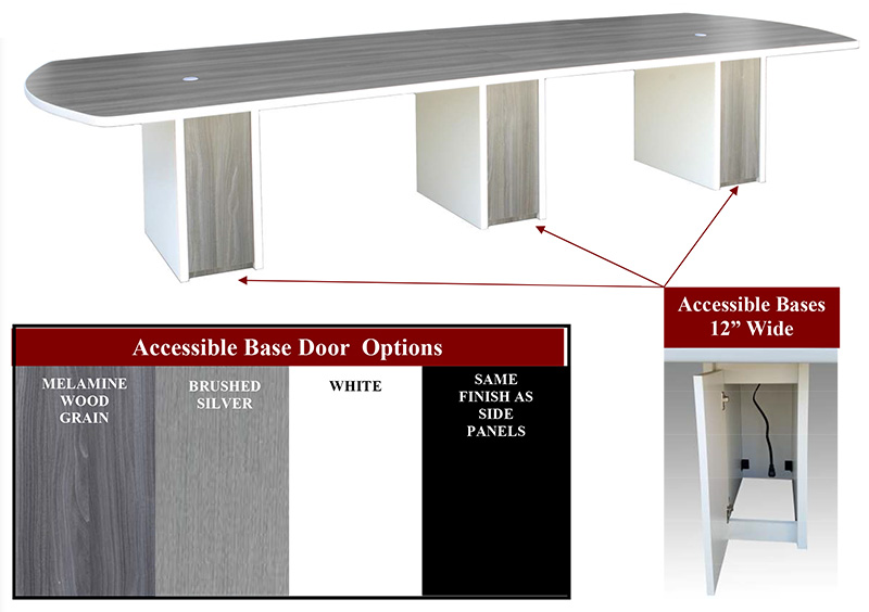 ARKO conference tables base options