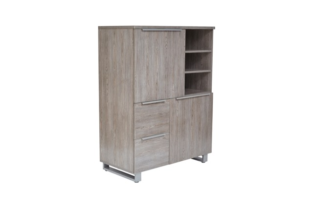 Kalmar by Unique Office Solutions Desk - High Board Storage and Filing Cabinet - front view