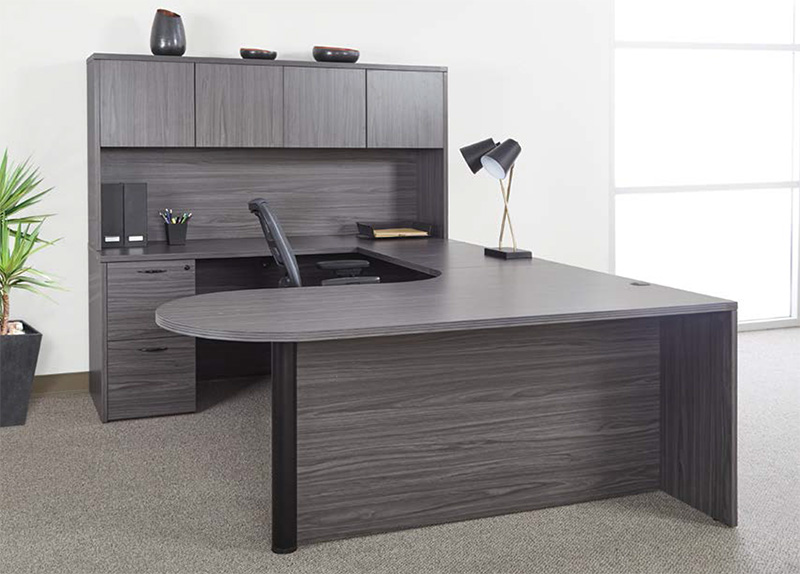 Office Star Napa Collection - U-Shaped Bullet Desk