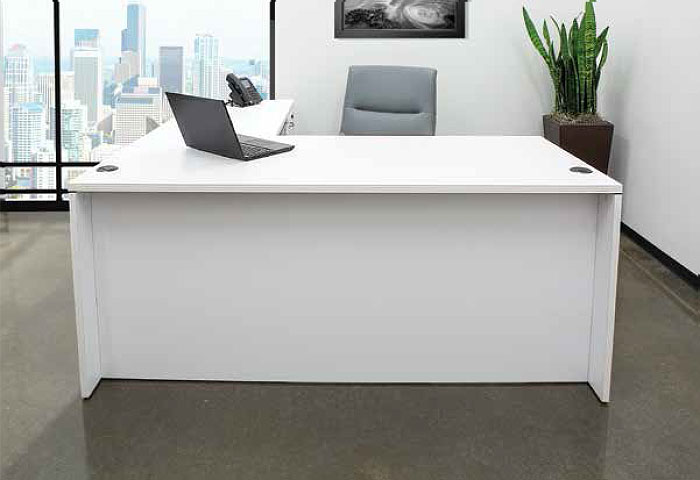 Modern budget office desks - white finish