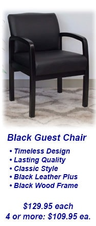Black Guest Chair - Reception Chair