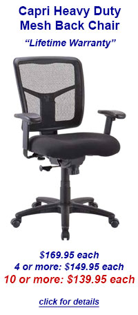 BKM Office Furniture - Office Chair Deal of the Month - Capri Heavy Back Mesh Chair