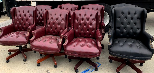 Boss 800 traditional chairs - Black and Oxblood