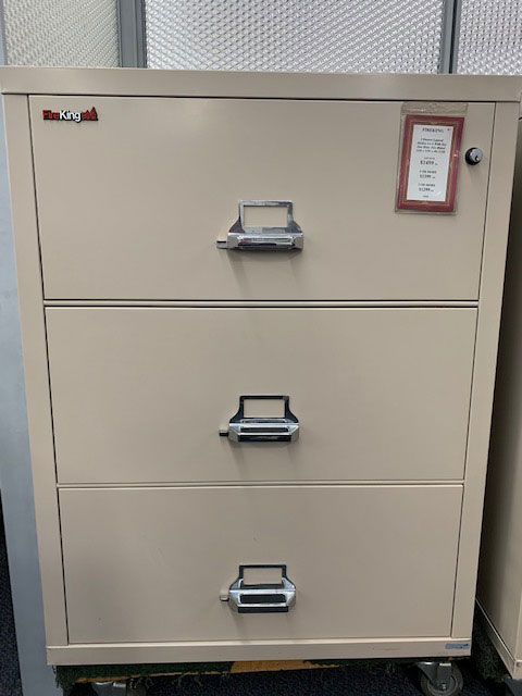 Fireking 3-drawer lateral file - gently used - photo 2