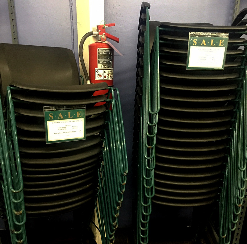 Save on used Haworth stacking office chairs