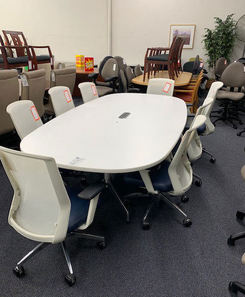 White Herman Miller Conference Tables - 9-foot - Gently Used