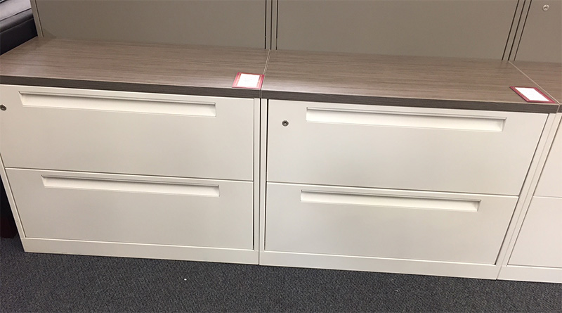 Save on used steelcase 2-drawer lateral file cabinets