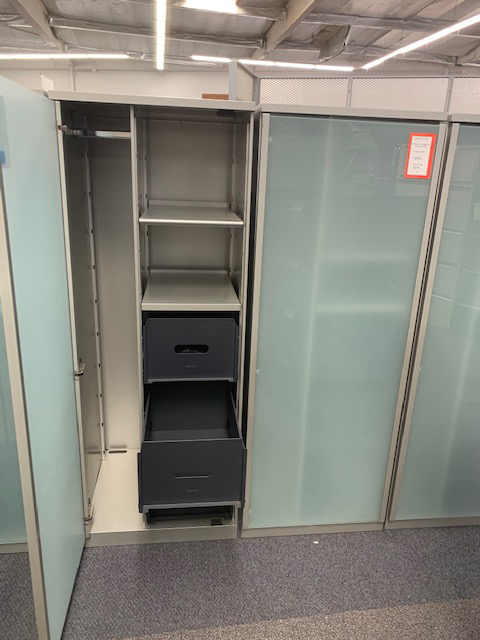 Steelcase File Cabinet with Glass Doors