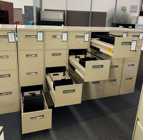 Gentaly Used Steelcase 'Super Duty' Letter Sized Filing Cabinets for $69 each