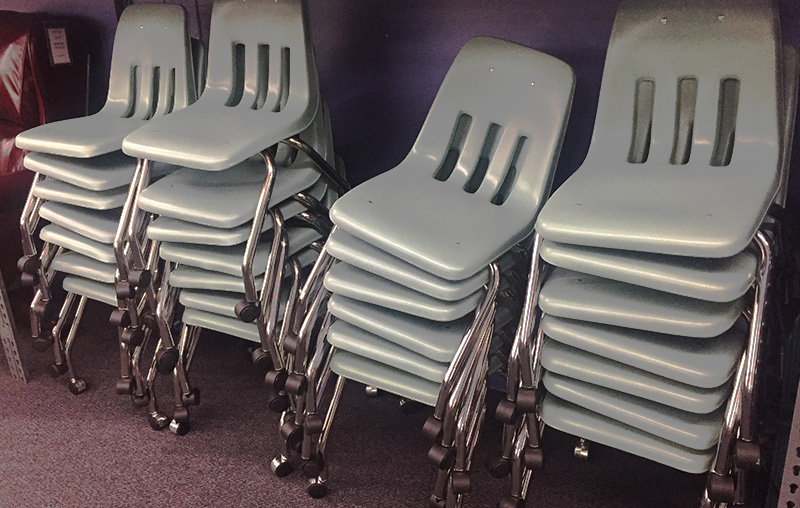 Save on used Virco caster chairs