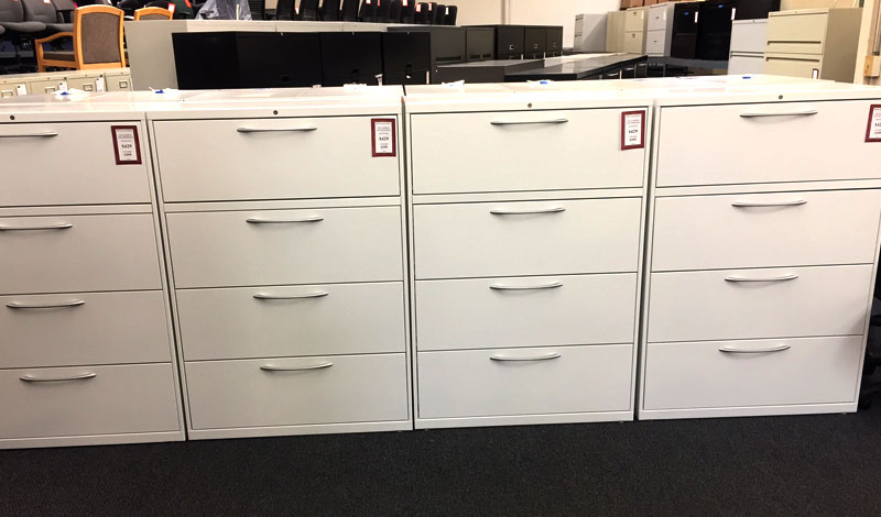 White Hon/Allsteel 436 - gently used office file cabinets