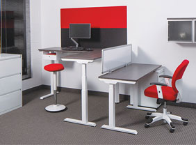 new and used adjustable office tables - electric and manual office desks