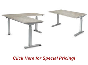 new and used adjustable office tables - electric and manual