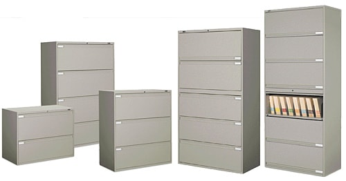 new and used office file cabinets for sale - lateral and letter sizes